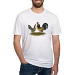Dutch Blue Quail Chickens Fitted T-Shirt