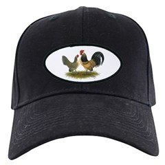 Dutch Blue Quail Chickens Baseball Hat