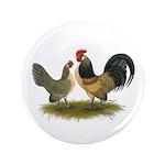 """Dutch Blue Quail Chickens 3.5"""" Button (100 pa"""