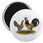 "Dutch Blue Quail Chickens 2.25"" Magnet (100 p"