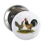 """Dutch Blue Quail Chickens 2.25"""" Button (10 pa"""