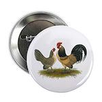 """Dutch Blue Quail Chickens 2.25"""" Button"""
