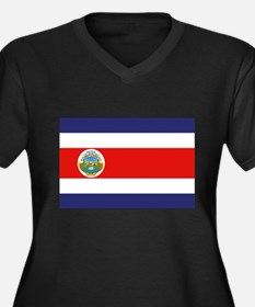 COSTA RICA Women's Plus Size V-Neck Dark T-Shirt