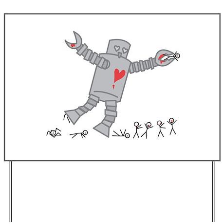Robot Love Yard Sign