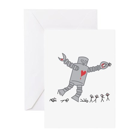 Robot Love Greeting Cards (Pk of 10)