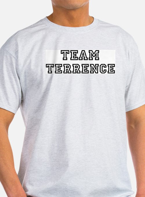 Team Terrence Ash Grey T-Shirt