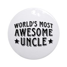Awesome Uncle Ornament (Round)