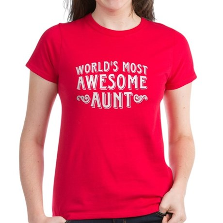 Awesome Aunt Women's Dark T-Shirt