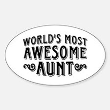 Awesome Aunt Sticker (Oval)