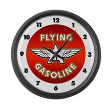 Flying A Gasoline Large Wall Clock
