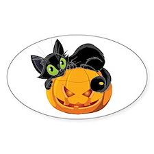 Pumpkin Kitty Decal