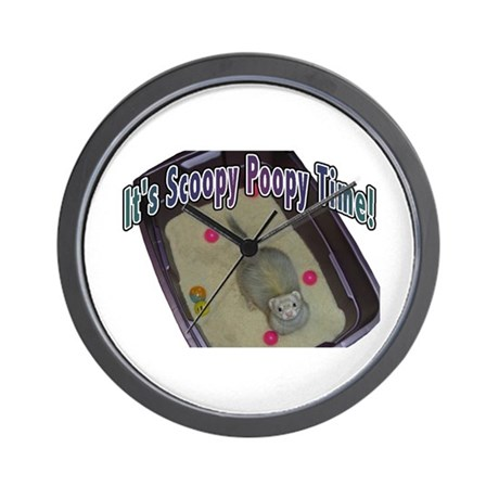 Scoopy Poopy Time Wall Clock
