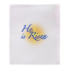 He is Risen Throw Blanket