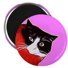 Cool Cat So Fluff Pink Refrigerator Magnet