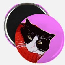 Cool Cat So Fluff Pink Refrigerator Magnet