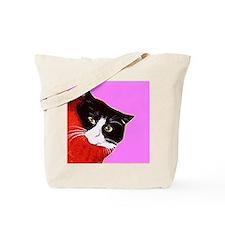 Cat So Fluff Big Cotton Pet Art Funky Tote Bag