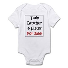 Twin Brother/Sister for Sale Infant Creeper