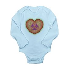 Biohazard Heart Long Sleeve Infant Bodysuit