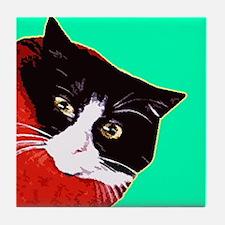 Cat So Fluff  Tile Coaster