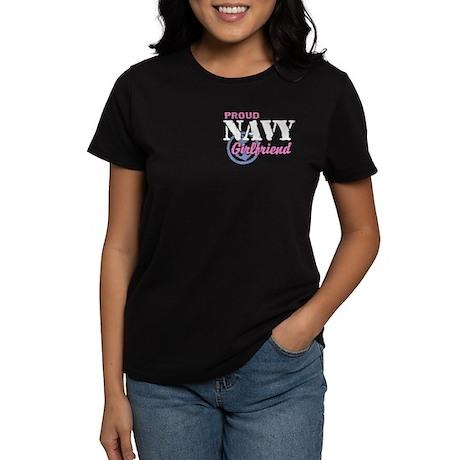 Proud Navy Girlfriend Women's Dark T-Shirt
