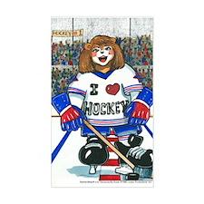 Female Hockey Rectangle Decal