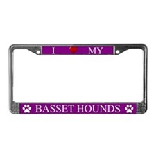 Purple I Love My Basset Hounds Frame