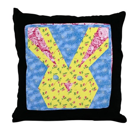 Easter Bunny Quilt Throw Pillow
