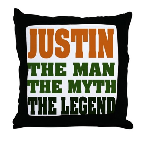JUSTIN - The Legend Throw Pillow