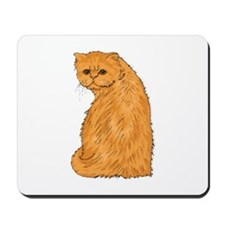 Red Persian Cat Portrait Mousepad