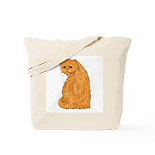 Red Persian Cat Portrait Tote Bag