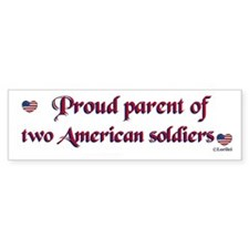 Proud Parent 2 Bumper Bumper Sticker