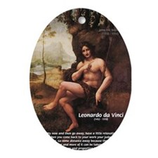 Leonardo da Vinci Quote Oval Ornament