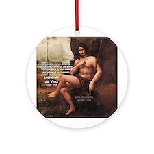 Leonardo da Vinci Quote Ornament (Round)