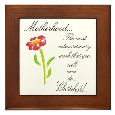 Motherhood Framed Tile
