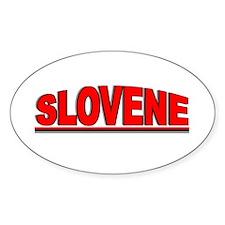"""Slovene"" Oval Decal"