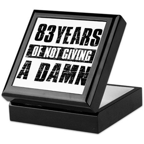 83 years of not giving a damn Keepsake Box