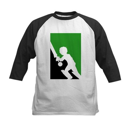Cricket Batsman Kids Baseball Jersey