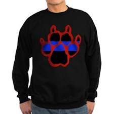 Red Paw Print Sweatshirt