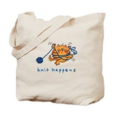 Cute Knitting cat Tote Bag