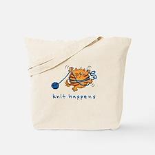 Cute Yarn and cats Tote Bag