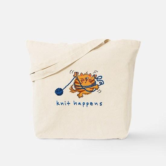 Cool Knitting cat Tote Bag