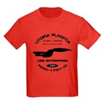 Enterprise-D Fleet Yards Kids Dark T-Shirt