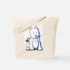 Westie Love Bucket Tote Bag