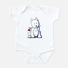 Westie Love Bucket Infant Bodysuit