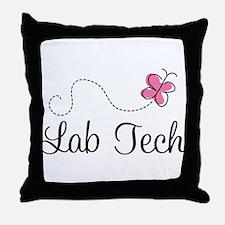 Cute Lab Tech Throw Pillow