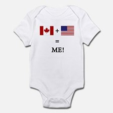 Canada and USA makes ME! Body Suit