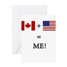 Unique Canada canadian american canadian american Greeting Card