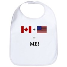 Cute Canadian usa Bib