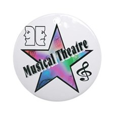 Musical Theatre Star Ornament (Round)