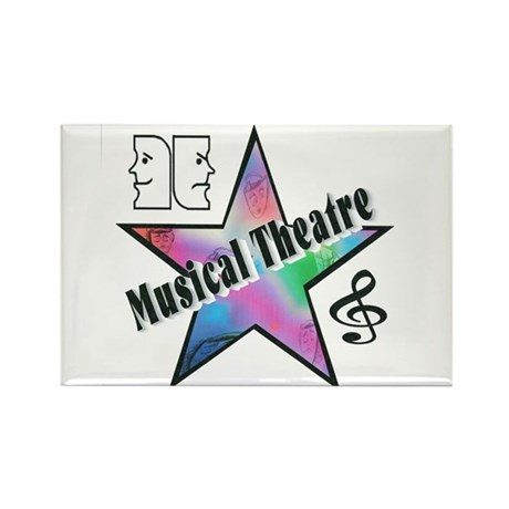 Musical Theatre Star Rectangle Magnet